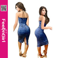 New arrival wholesale alibaba sexy women jeans dress
