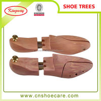 Adjustable Twin tube Brass Wooden Cedar Shoe Tree