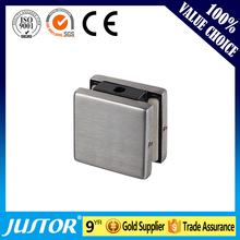 Square shape stainless steel patch fitting glass corner connector door clamp