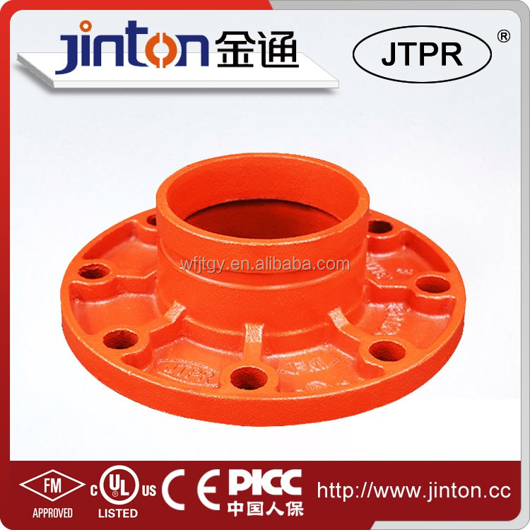 FM/UL certificated groove threaded flange