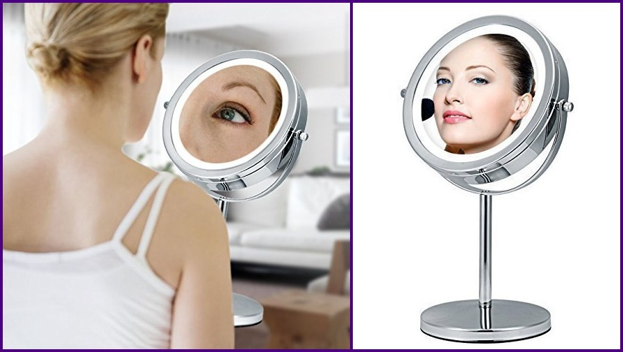 Lighted Vanity Mirrors Make Up Wall Mounted 44 Round Mam1d44 Front Lighted: Hot Selling Professional Round Lighted Cosmetic Standing