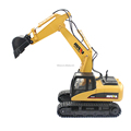 HUINA 15 Channel 2.4G 1/12 RC Metal Excavator 1:12 RC Car With Battery RC Alloy Excavator