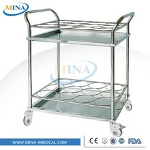 MINA-DC007 Mobile Stainless Steel Bottled Water Trolley
