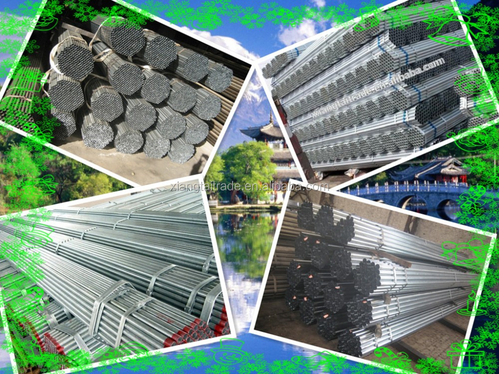 ASTM A53 High quality and low price ERW steel pipe / welded pipe from Tianjin of China, best chioce welded steel pipe
