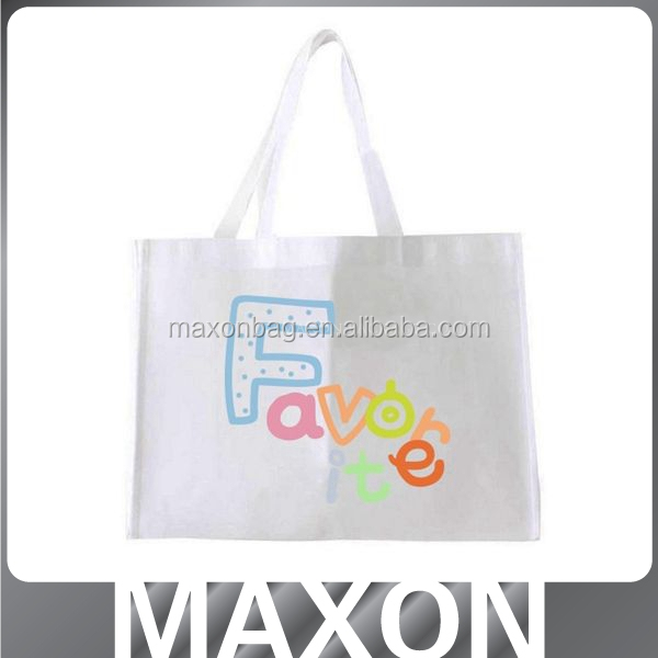 Custom foldable shopping non woven bag with handle tote bags with custom printed logo