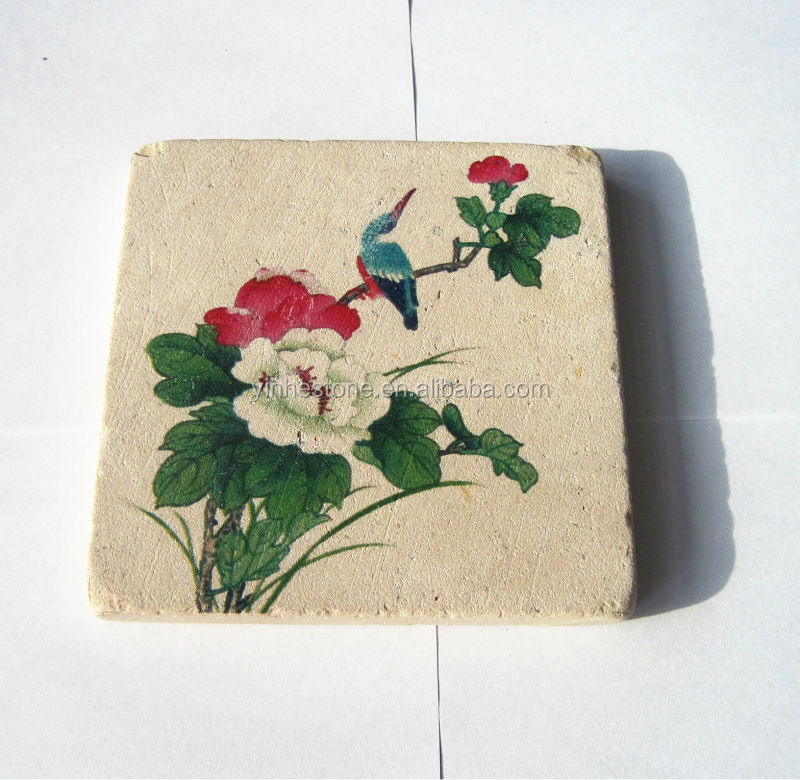 Wholesale good quality 3D photo printing marble stone coaster