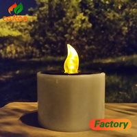 led candle wedding decoration plastic material stick wick battery LED Candle