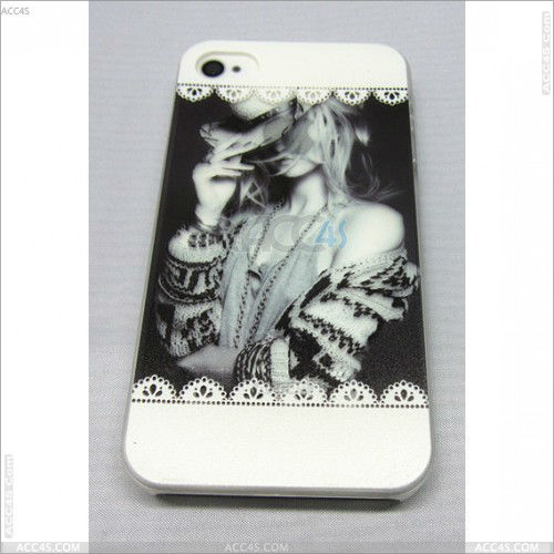 Mix color animal shaped Tiger image PC hard cover case for iphone4 4s P-iPHN4SHC061