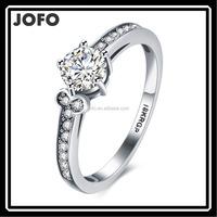 Noble Jewelry Fashion Plated Silver Emerald zircon wedding rings women size 6-9