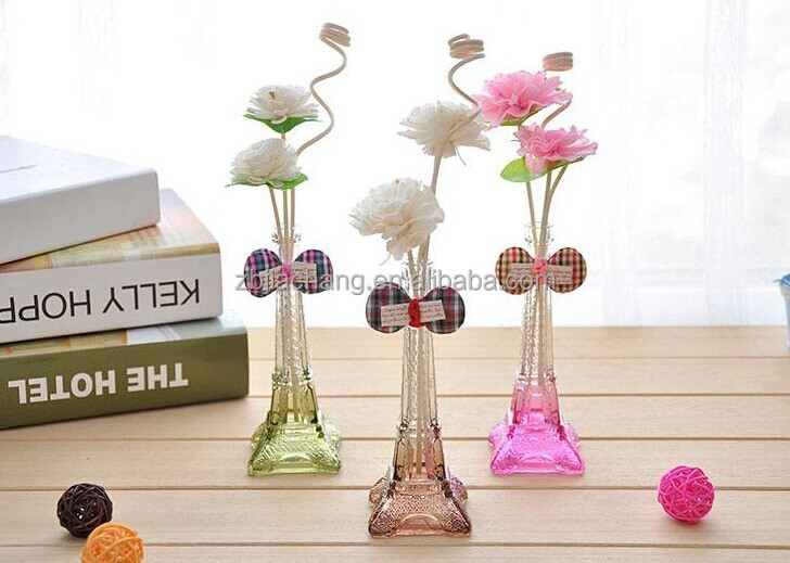 gradient color eiffel tower purple glass vase for home decoration