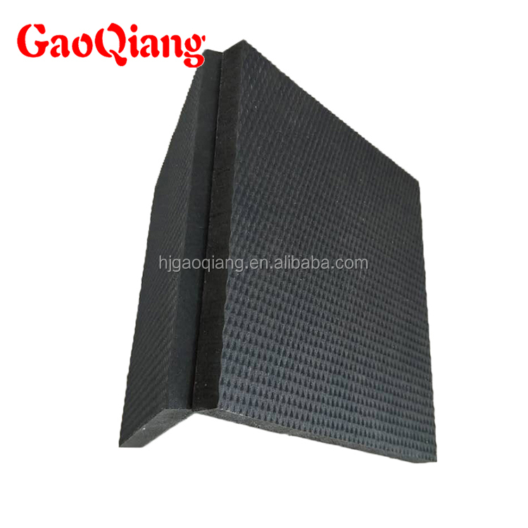 Electrical insulation high density rubber mat foam rubber sheet