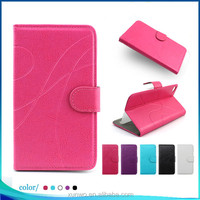 Hot Selling colorful stripe filp Leather Wallet cover for Huawei P8 Lite mobile phone case