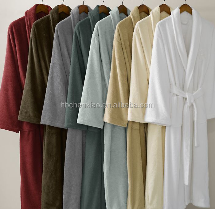 Wholesale unisex towel polyester coral fleece hotel bath robe/bathrobe