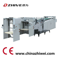 ZWK automatic thin paper sheet flute laminating machine flat paperboard gluing mounting machine
