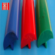 Wood color flexible PVC T molding plastic wood trim u shaped profile