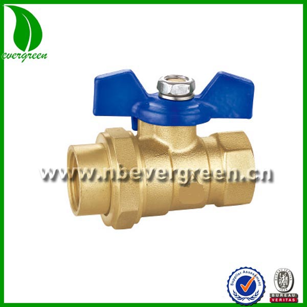 low price hand operated union end 1/2 inch brass ball valve