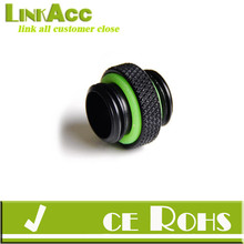 "Linkacc4FT Barrow G1/4"" Black Dual screw Coupling Adapter fitting TB2D-MINI01"