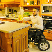 Showgood invalide care folding wheel chairs with PG controller and Motion motor