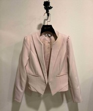 Ladies Blazer Design with Formal Pink Fashion Blazer for Woman with Flexible Spandex