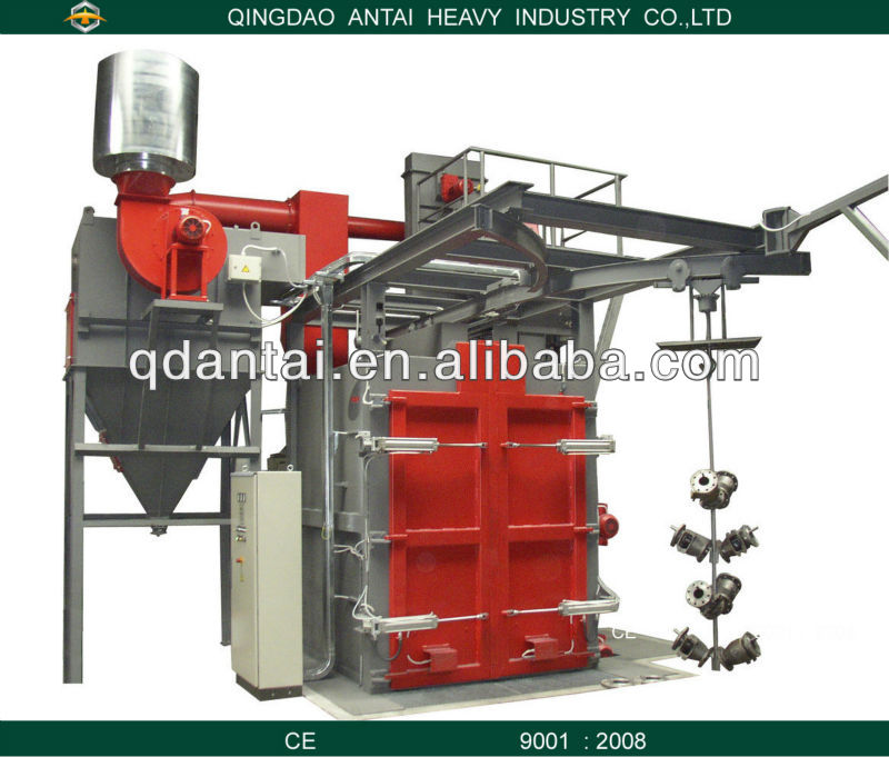 hook shot blasting machine/hook lift containers for sale