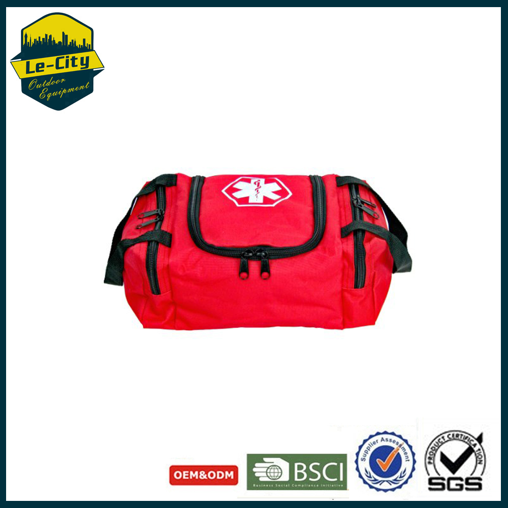 Top Selling 600D Cheap Red First Aid Bag Empty Black Medical Bag