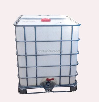 1000L plastic or PE tote IBC tank with steel cage