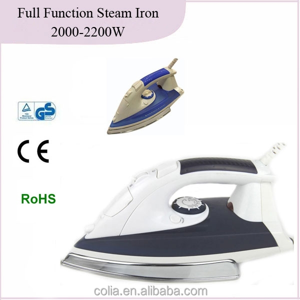 Dry Spray Steam Variable Iron Metal Skirt Vertical Self-Cleaning Iron (HK-ES-2028A)