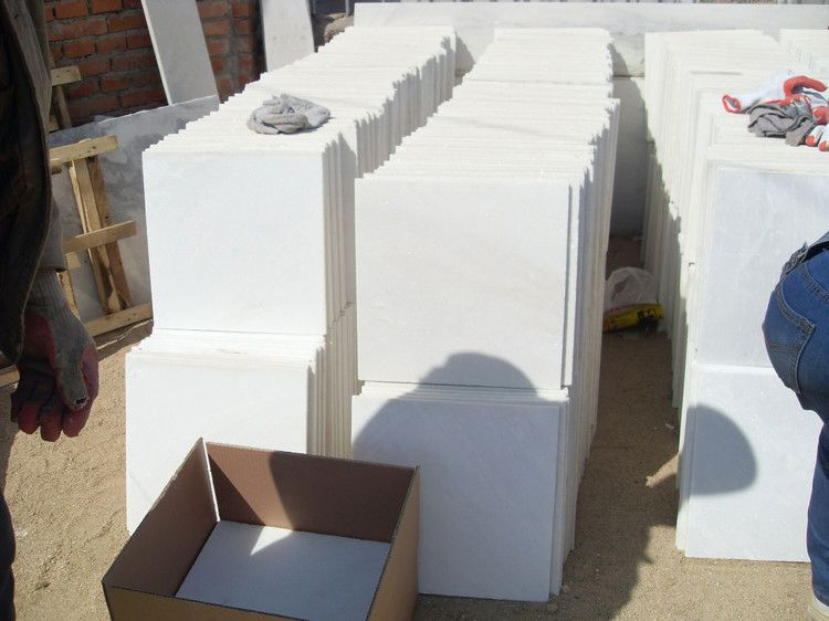 Pure White Marble Slab excellent quality man made stone snow white marbles
