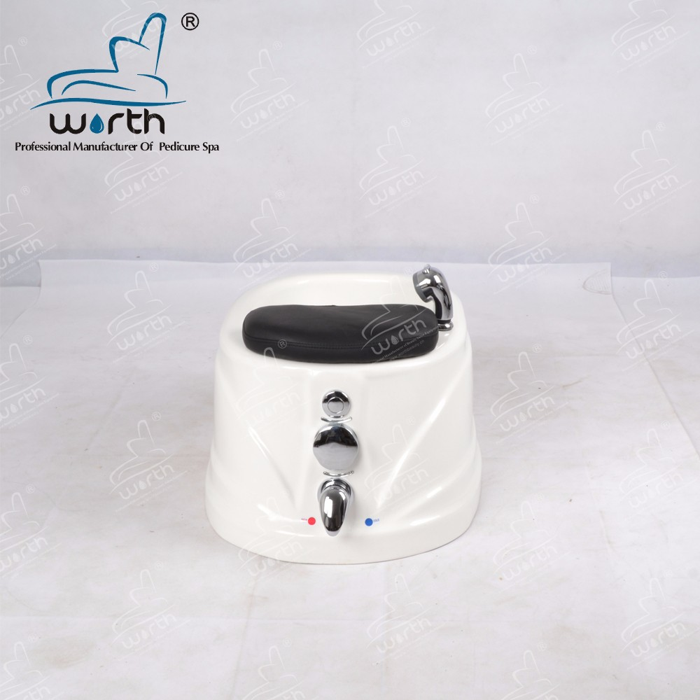 Acrylic pedicure chair foot spa pedicure tub bowl with movable tiny wheels