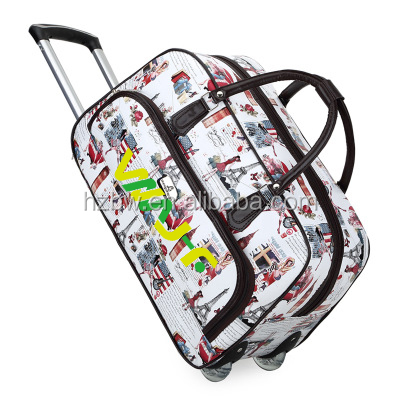 Travelling luggage 1680d laptop bag expandable waterproof wholesale travel trolley bag
