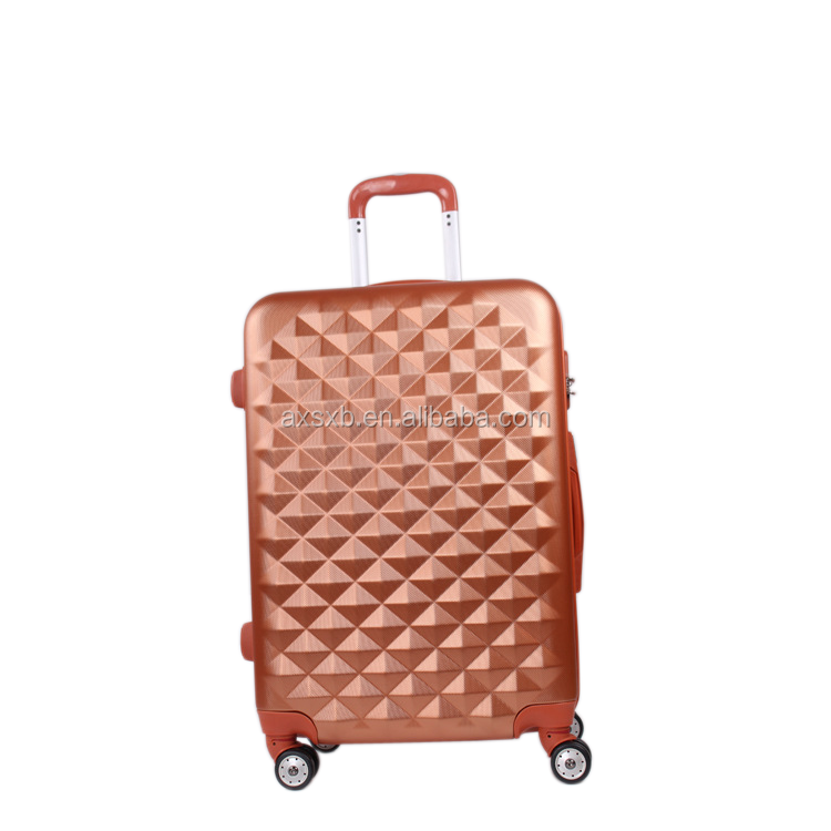 ABS+PC 3 pcs set eminent soft trolley luggage abs / polycarbonate trolley luggage cabin luggage size