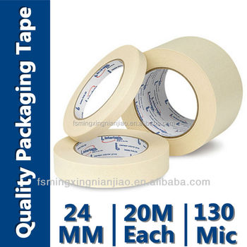 Removable Utility Grade Crepe Paper Masking Tape(Crepe Paper with Rubber Adhesive,High Temperature Resistance)
