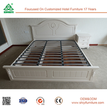 XSY-L003 White mdf wood double bed designs with box