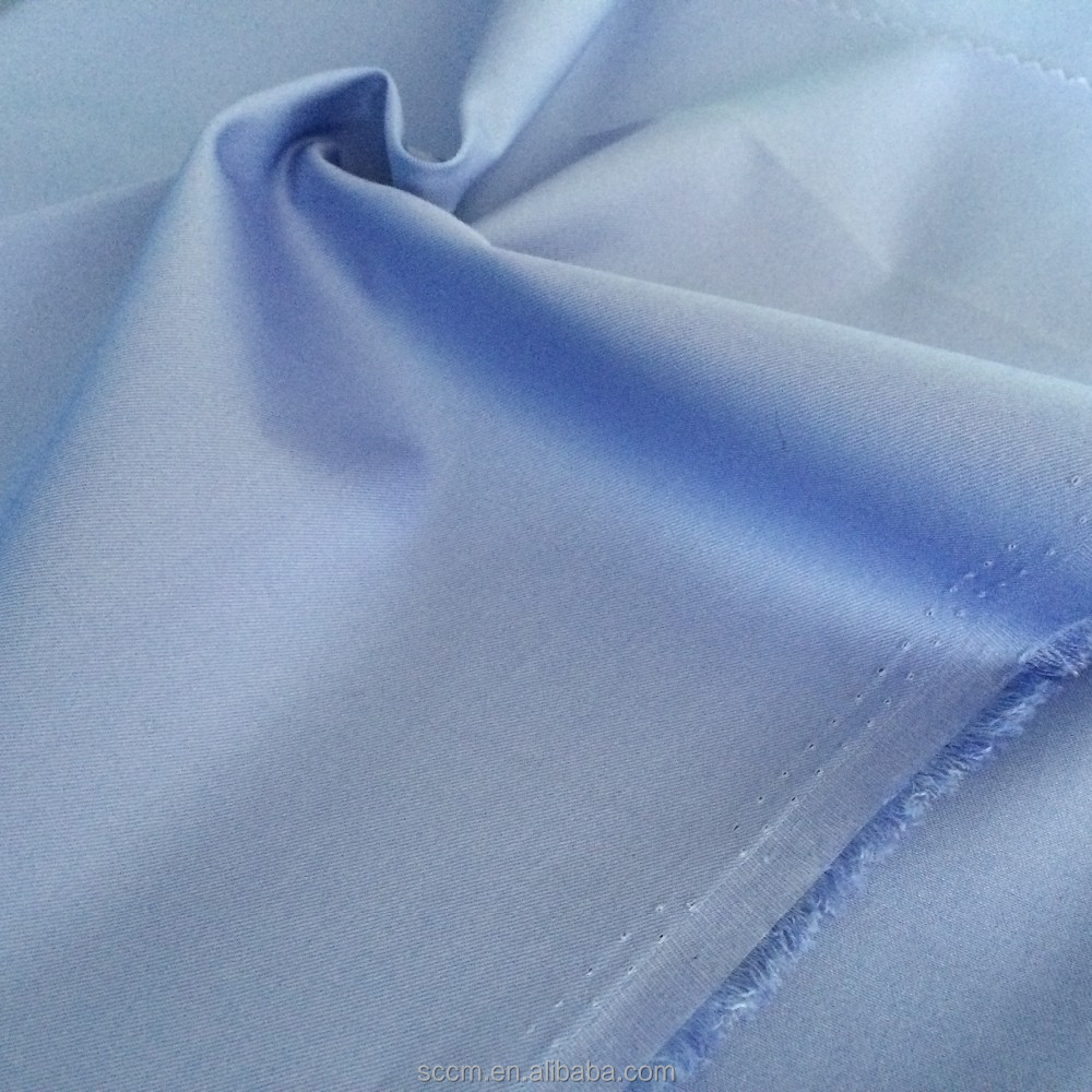 CVC 60 cotton 40 polyester poplin fabric for shirt