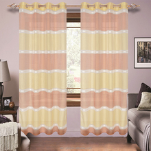 New Design Luxury Ready Made Striped Sheer Fabric Window Curtains
