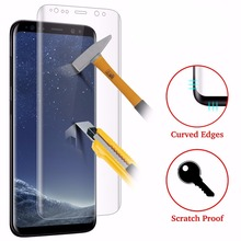 3D Full Curved Tempered Glass LCD Screen Protection Clear For Samsung S8