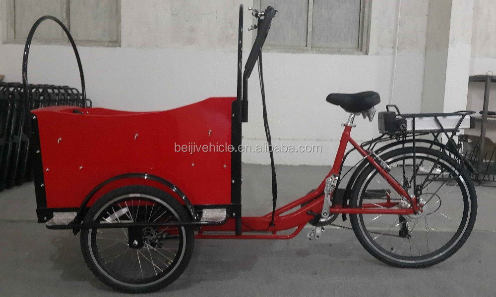 CE Holland bakfiets family pedal assisted 3 wheel cargo electric bicycle parts