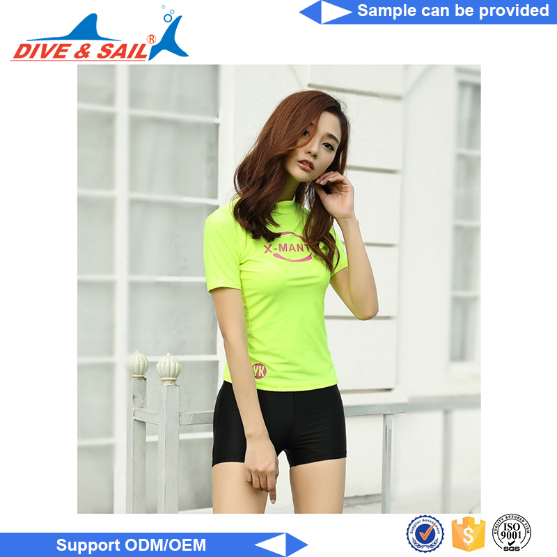 Custom logo print short sleeves Comfortable Breathable men compression rash guard jerey