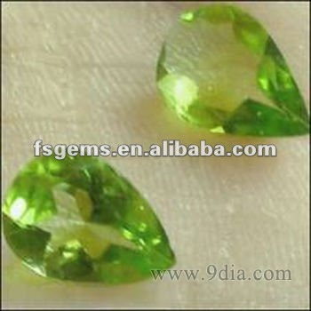 Natural pear Chrome Diopside for Silver and Gold Jewelry