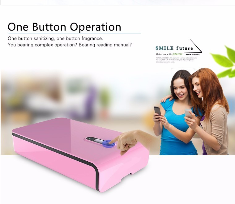 2016 healthy life Portable Rechargeable Mobile Phone Sterilizer UV Disinfector
