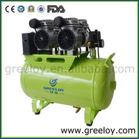 Two Head Brand New Shanghai Greeloy Electric Silent Piston Type Oil Free Dental Oil Free Air Compressor Welding Machine