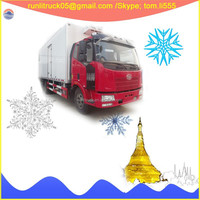 China refrigerated truck parts supplier for FAW J6 CA1160P62K1L2A1E4Z 4*2 10tons refrigerate van sale
