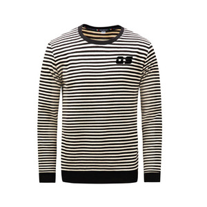 Winter warm long sleeve t shirt stripe under sweater