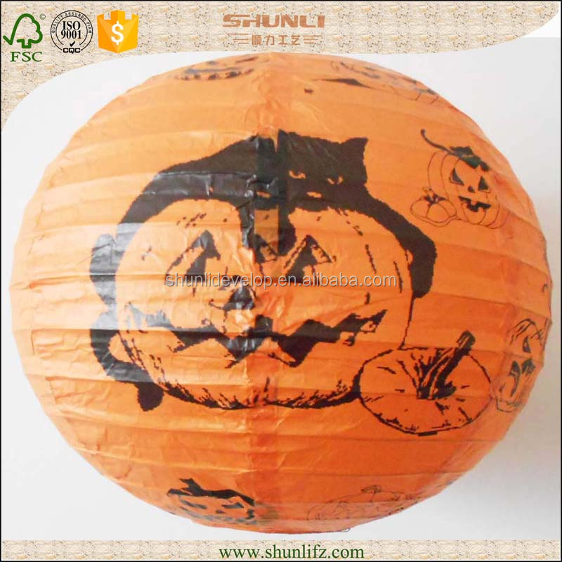 round metal chinese lantern halloween gifts