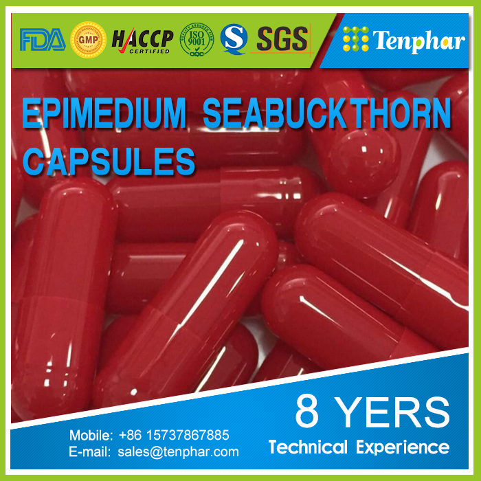 GMP Certified Natural Sea Buckthorn Extract Hard Capsules