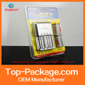 heat seal blister clamshell packaging for batteries and charger