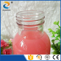 350ml clear white glass bottle for drinking with aluminium cap