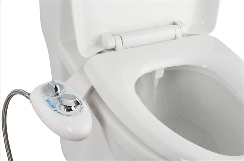 Cold Water Self Cleaning Single Nozzle Toilet Seat Bidet Attachment