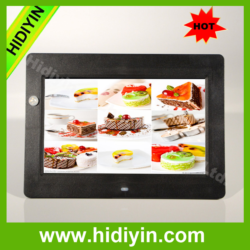 "10.1""bulk digital photo frame portable with motion sensor auto play when pass by lcd screen"