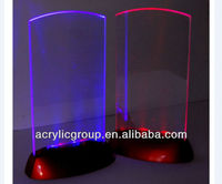Manufacturer supplies elegant and high quality acrylic led menu holder